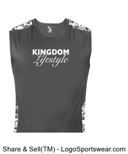 Badger Digital Sleeveless Tight Tee Design Zoom