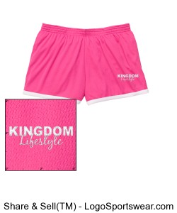 Kingdom Lifestyle Ladies Fast Break Mesh Shorts Design Zoom