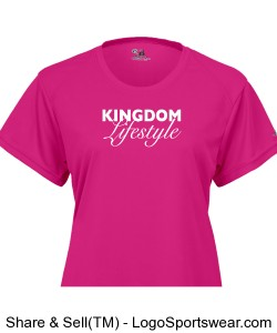 Ladies B-Dry Core Tee Design Zoom