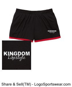 Ladies Fast Break Mesh Shorts Design Zoom